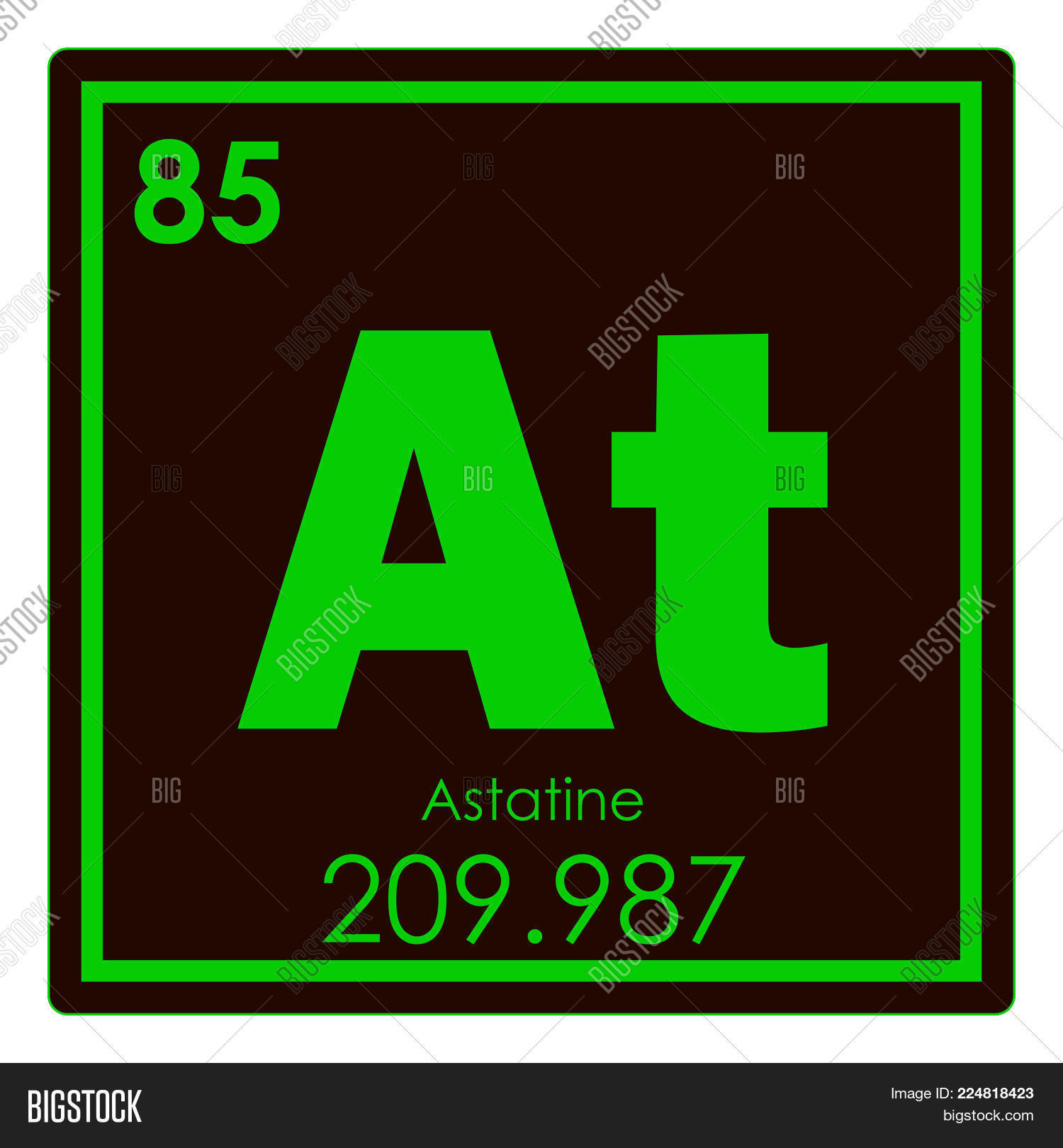 Astatine chemical image photo free trial bigstock astatine chemical element periodic table science symbol urtaz Image collections