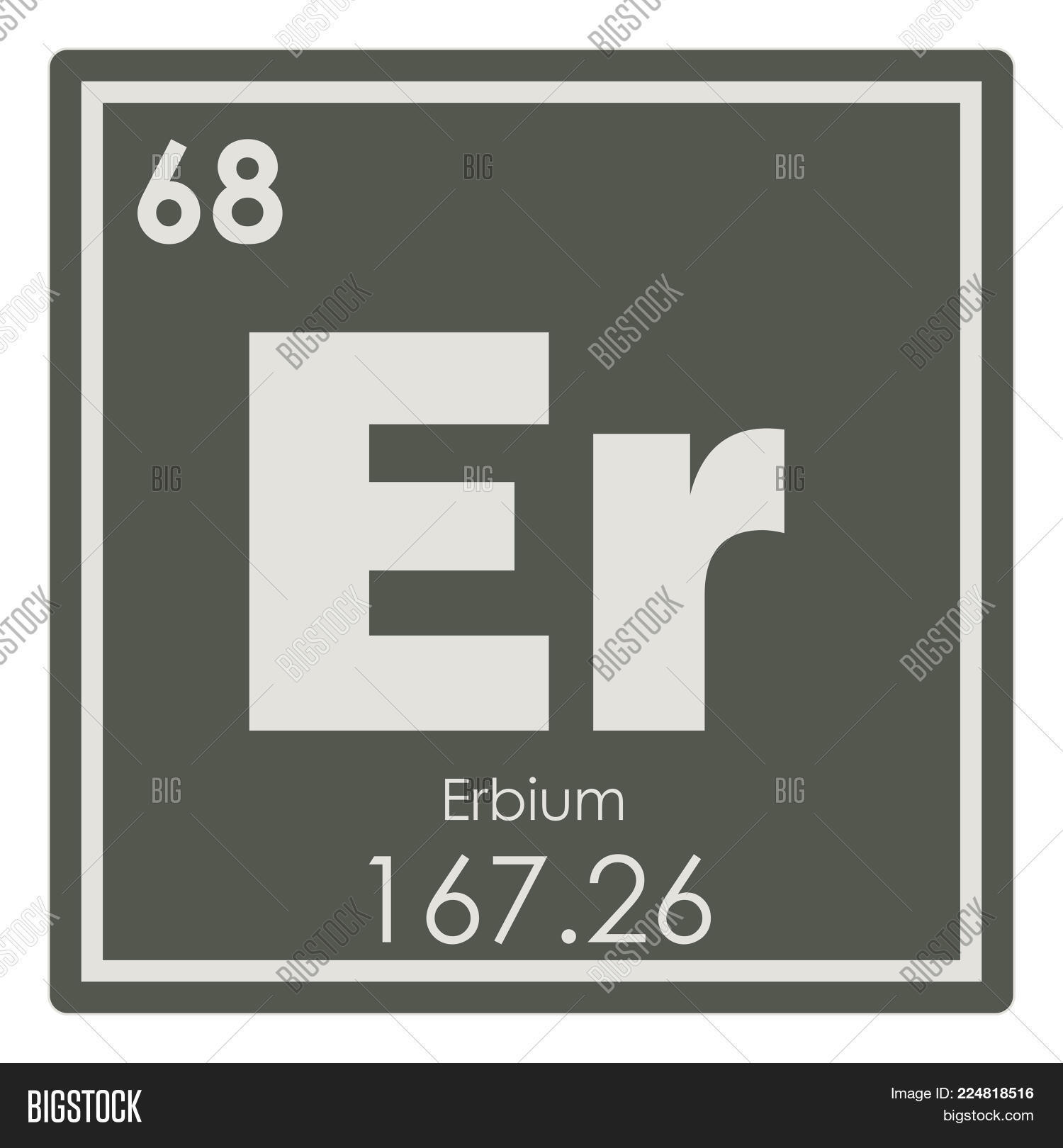 Erbium Chemical Image Photo Free Trial Bigstock