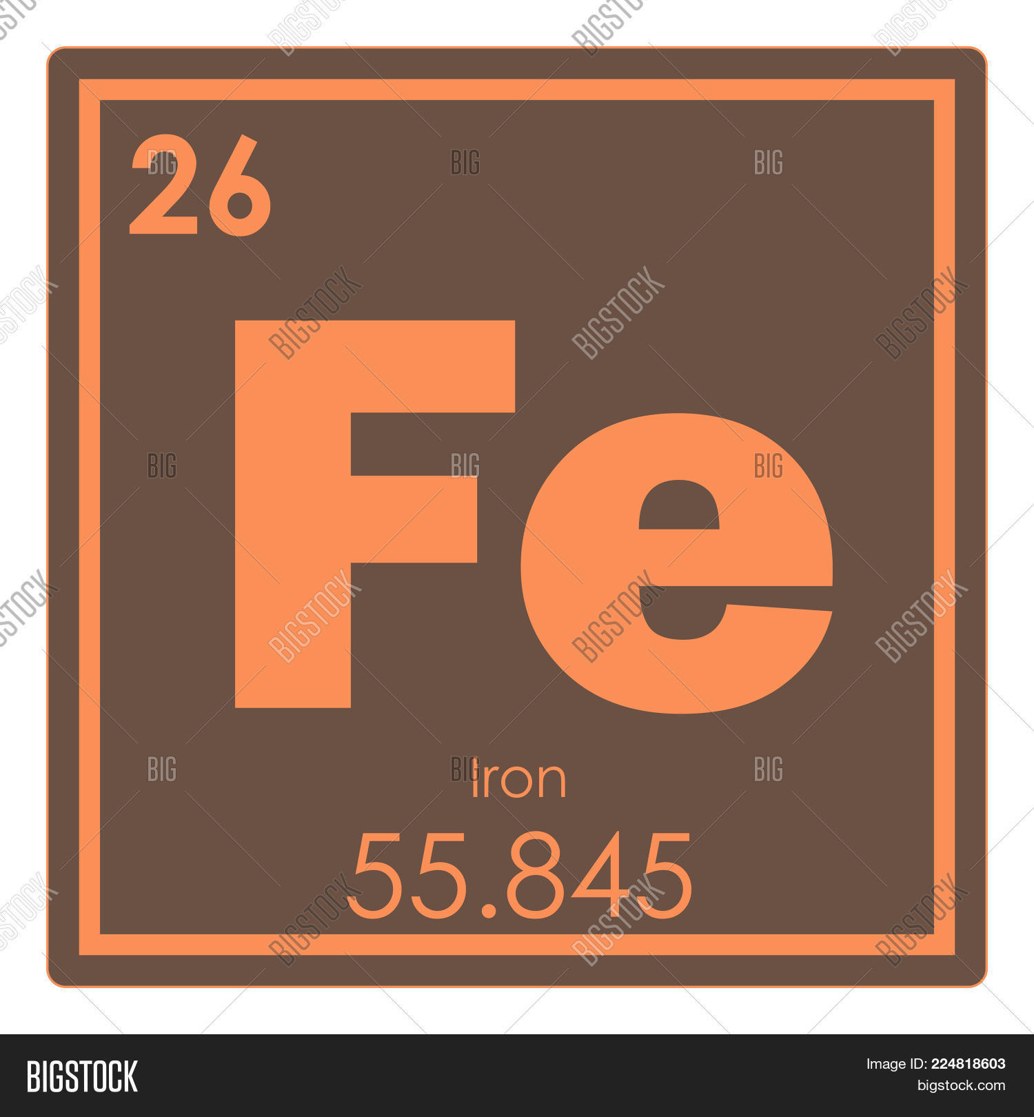 Iron chemical element image photo free trial bigstock iron chemical element periodic table science symbol urtaz Gallery