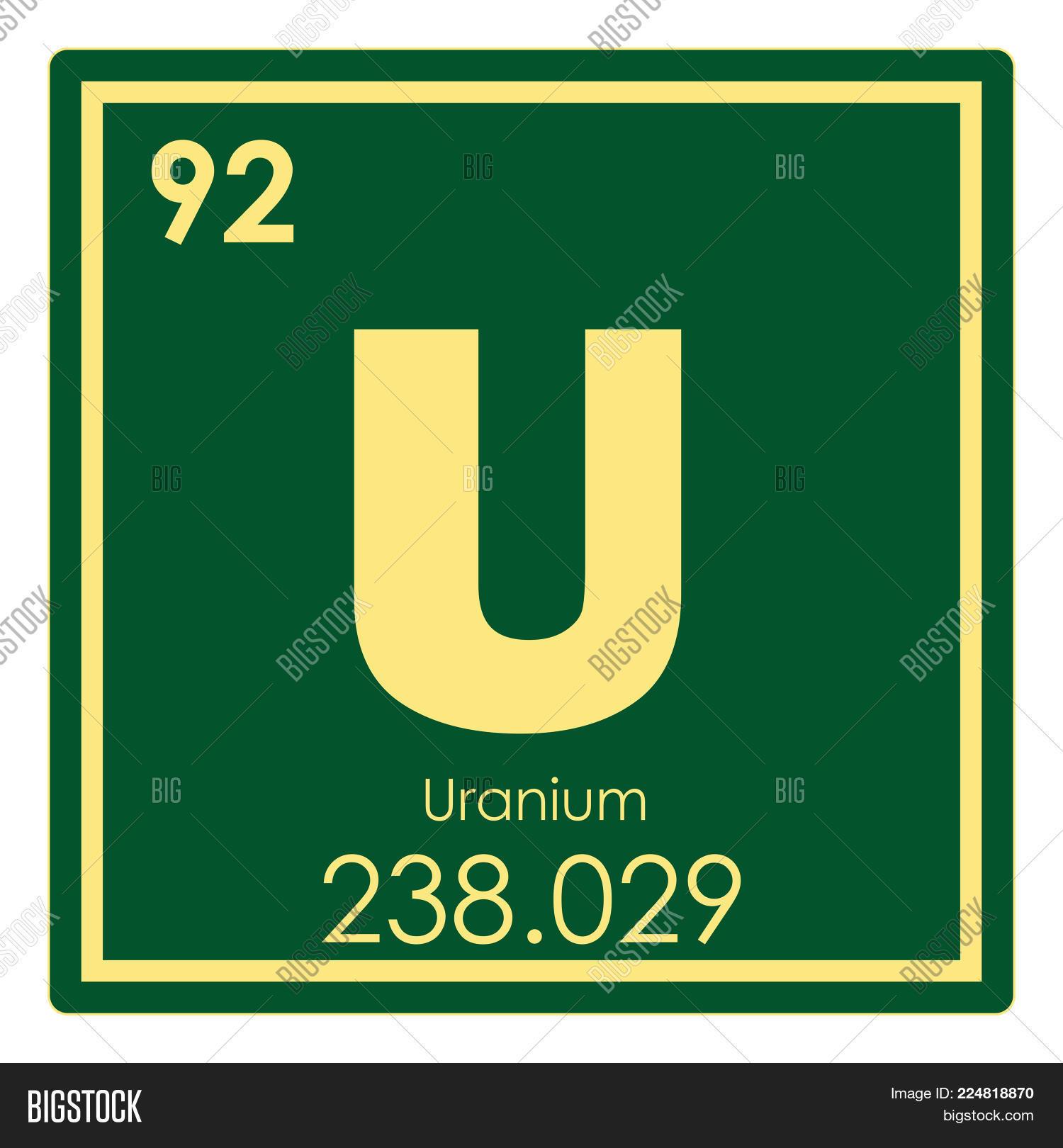 Uranium chemical element periodic image photo bigstock uranium chemical element periodic table science symbol buycottarizona Images