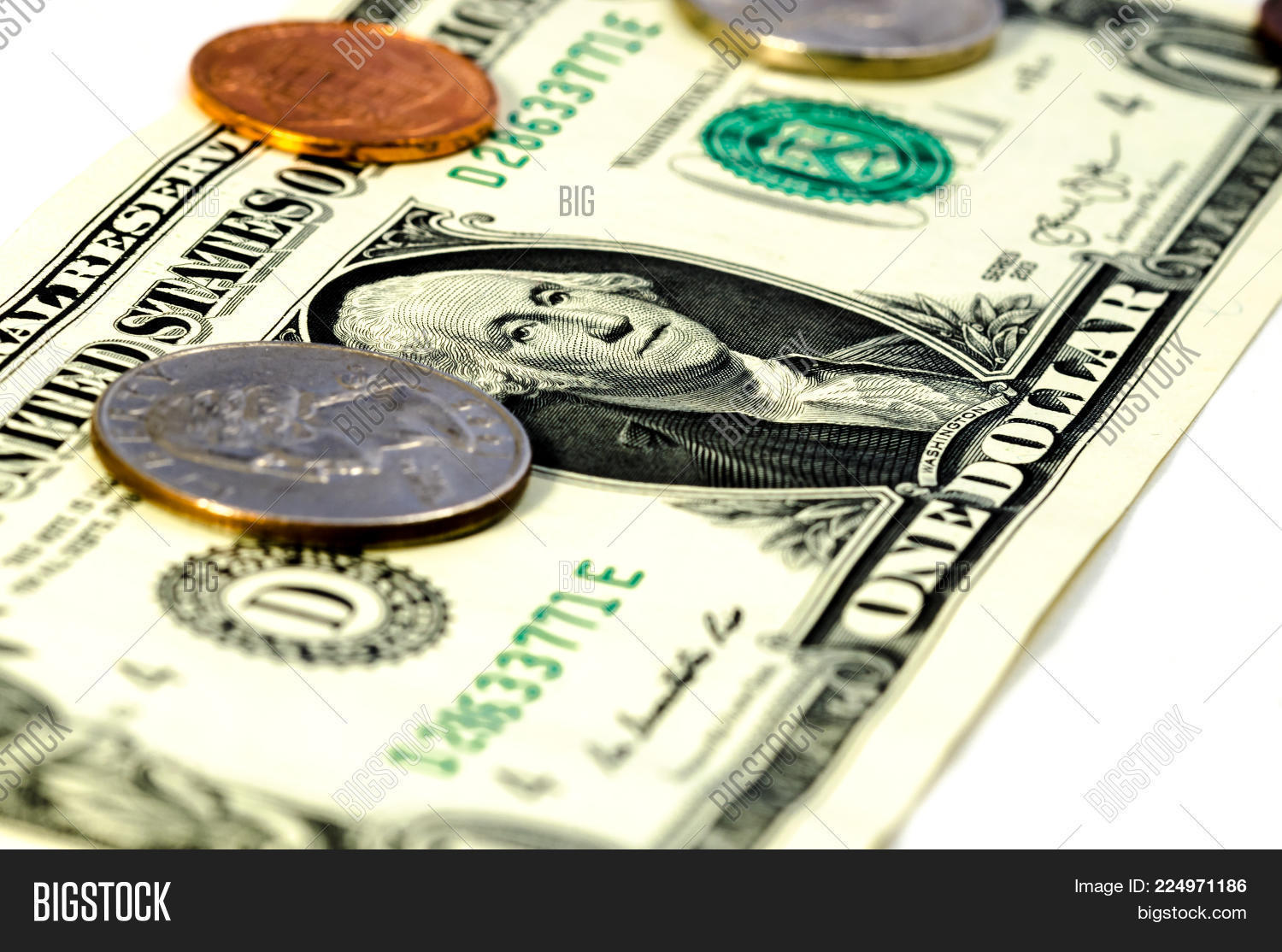 Close Dollar Bill Cent Image Photo Free Trial Bigstock