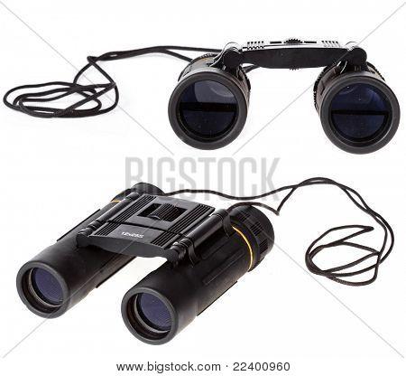 lorgnette, binocular on white background