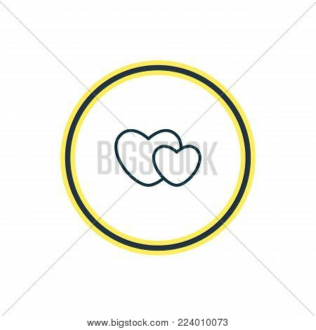 Vector illustration of soul icon line. Beautiful passion element also can be used as hearts  icon element.