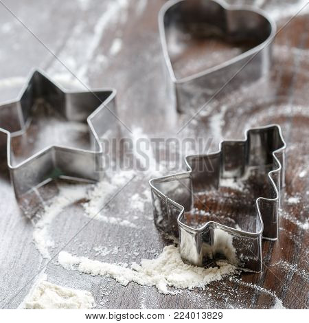Cookie cutters in the shape of
