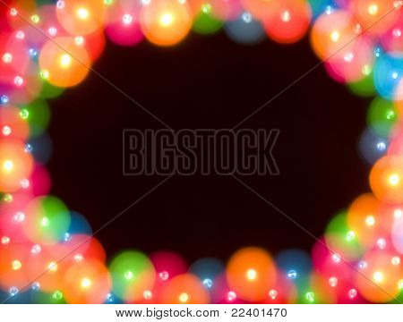 blur lights , defocused card  with space for your text