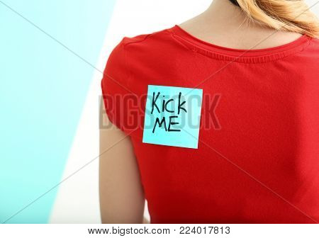 Sticky note with phrase