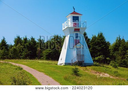 Warren Cove Range Front Lighthouse On Prince Edward Island. Prince Edward Island, Canada.