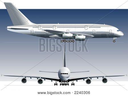 Vector-dubbeldeks Lagest straalvliegtuig