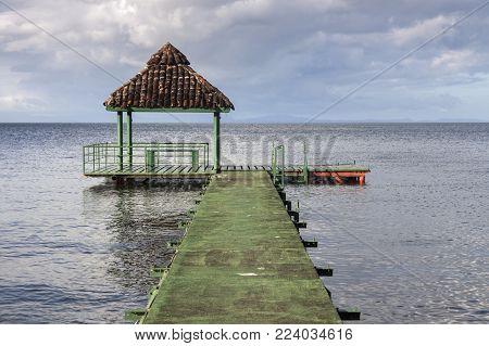 View On Ometepe Island In Nicaragua. Managua, Nicaragua.