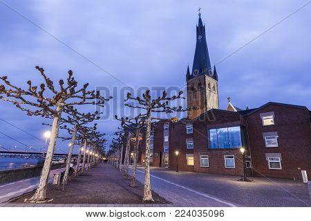St. Lambert Church In Dusseldorf. Dusseldorf, North Rhine-westphalia, Germany.