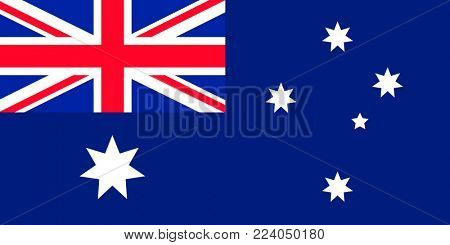 Flag of Australia. Symbol of Independence Day, souvenir soccer game, button language, icon.