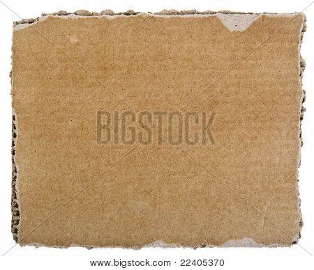 scrap of corrugated cardboard sheet