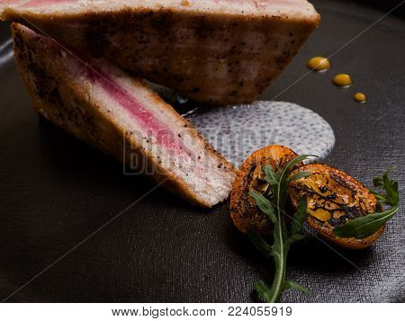 raw meat grilled steak restaurant meal concept. food photography. barbecue delicacy.