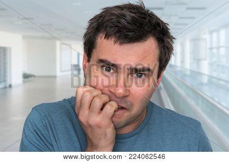 Nervous Man Biting His Nails - Nervous Breakdown
