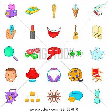 Mummer icons set. Cartoon set of 25 mummer vector icons for web isolated on white background