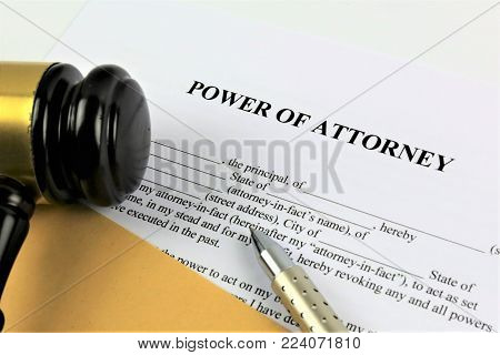 An concept Image of a power of attorney poster