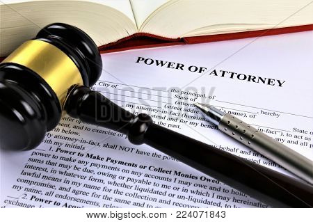 An concept Image of a power of attorney