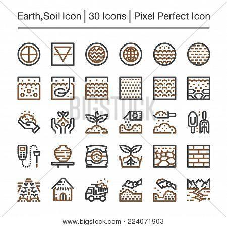 earth icon set element icon vector illustration