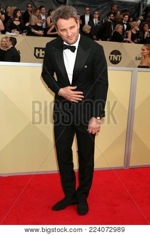 LOS ANGELES - JAN 21:  Jason Clarke at the 24th Screen Actors Guild Awards - Press Room at Shrine Auditorium on January 21, 2018 in Los Angeles, CA