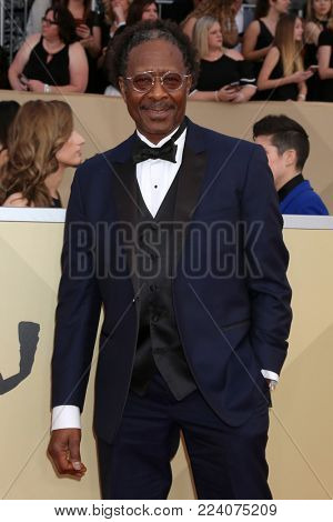 LOS ANGELES - JAN 21:  Clarke Peters at the 24th Screen Actors Guild Awards - Press Room at Shrine Auditorium on January 21, 2018 in Los Angeles, CA