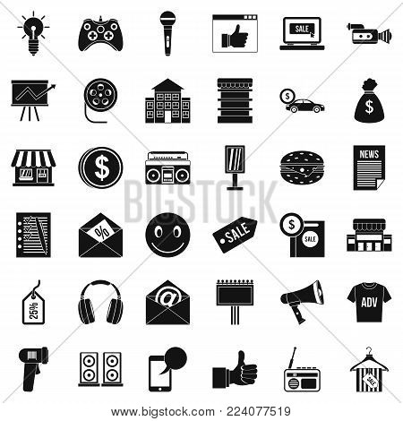 Ware icons set. Simple set of 36 ware vector icons for web isolated on white background