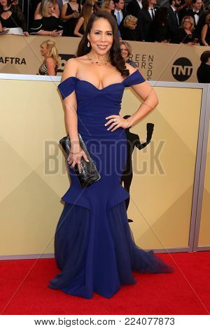 LOS ANGELES - JAN 21:  Rosal Colon at the 24th Screen Actors Guild Awards - Press Room at Shrine Auditorium on January 21, 2018 in Los Angeles, CA
