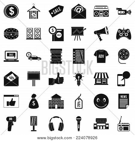 Retail icons set. Simple set of 36 retail vector icons for web isolated on white background