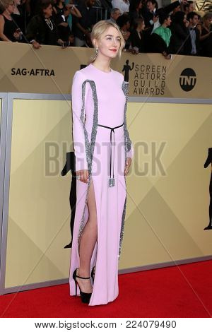 LOS ANGELES - JAN 21:  Saoirse Ronan at the 24th Screen Actors Guild Awards - Press Room at Shrine Auditorium on January 21, 2018 in Los Angeles, CA