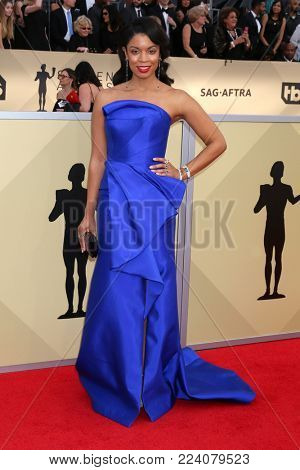 LOS ANGELES - JAN 21:  Susan Kelechi Watson at the 24th Screen Actors Guild Awards - Press Room at Shrine Auditorium on January 21, 2018 in Los Angeles, CA