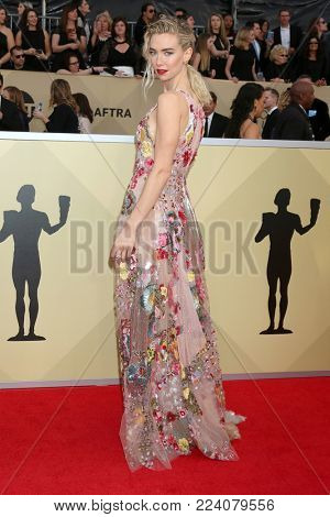 LOS ANGELES - JAN 21:  Vanessa Kirby at the 24th Screen Actors Guild Awards - Press Room at Shrine Auditorium on January 21, 2018 in Los Angeles, CA