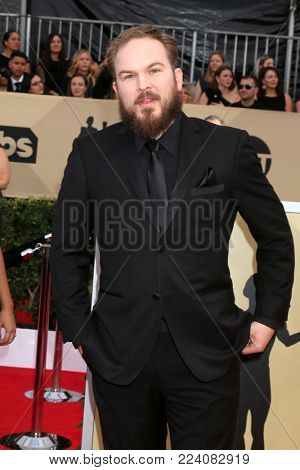 LOS ANGELES - JAN 21:  Matt Peters at the 24th Screen Actors Guild Awards - Press Room at Shrine Auditorium on January 21, 2018 in Los Angeles, CA