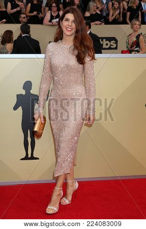 LOS ANGELES - JAN 21:  Marisa Tomei at the 24th Screen Actors Guild Awards - Press Room at Shrine Auditorium on January 21, 2018 in Los Angeles, CA