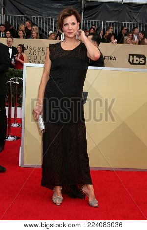 LOS ANGELES - JAN 21:  Margared Colin at the 24th Screen Actors Guild Awards - Press Room at Shrine Auditorium on January 21, 2018 in Los Angeles, CA