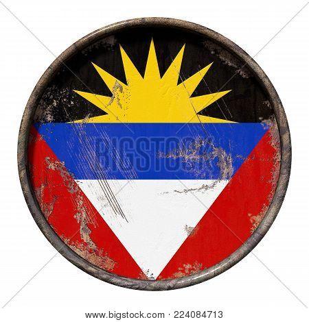 Old Antigua And Barbuda Flag
