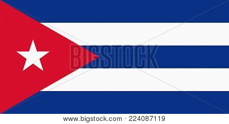 Flag of Cuba. Vector illustration. World flag