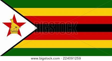 Flag of Zimbabwe. Vector illustration. World flag