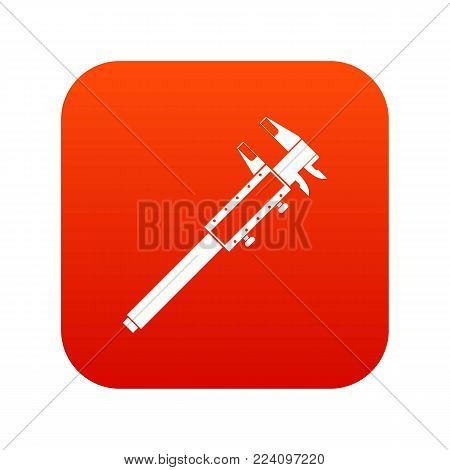 Vernier caliper icon digital red for any design isolated on white vector illustration