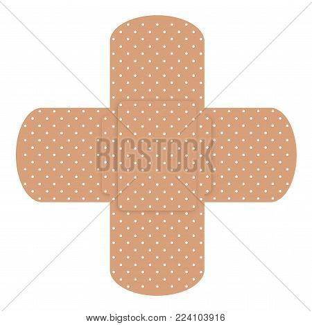 Two cross plasters isolated on  white background