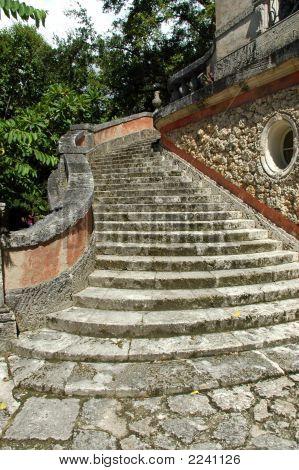 Coral Staircase In Old Miami Estate