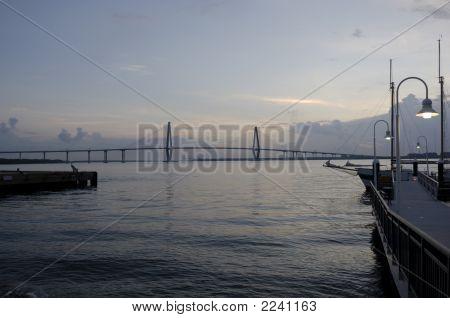 Cooper River Bridge At Daybreak