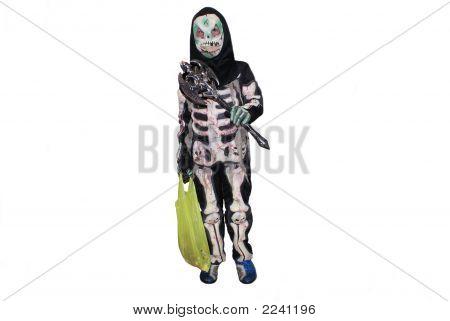 Boy In Halloween Costume