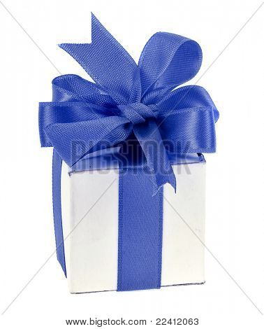 present box with blue bow