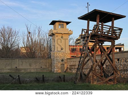Military Towers Of The Former Red Cross Concentration Camp