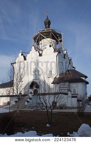 Sviyazhsky Theotokos-Uspensky Monastery. Cathedral of the Assumption of the Blessed Virgin Mary.  Tatarstan. Russia.