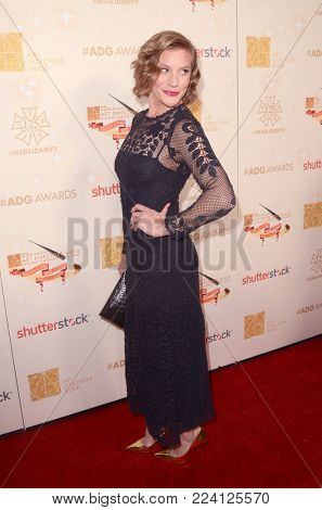 LOS ANGELES - JAN 27:  Katee Sackhoff at the 22nd Annual Art Directors Guild Awards at the Dolby Ballroom on January 27, 2018 in Los Angeles, CA