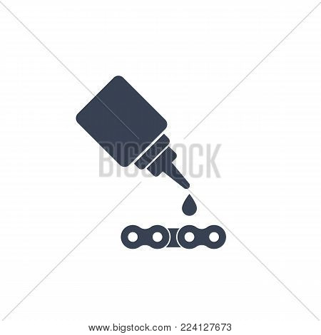lubricant, oil for chain icon, eps 10 file, easy to edit