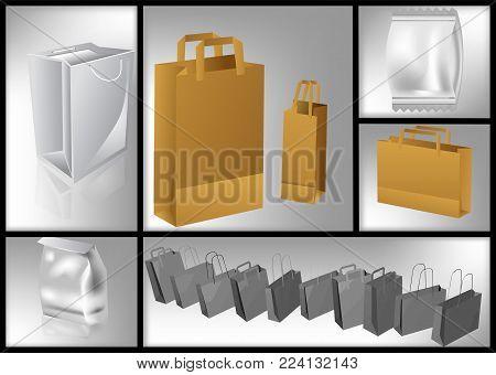 set of packages,paper packaging packages, packge bags