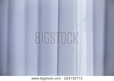 Beautiful window curtain. White transparent curtain background.