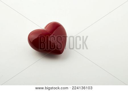 Red Heart Love Concept