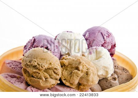 ice cream in the box isolated on white background